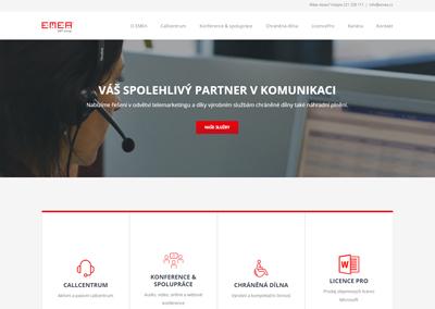 Webové stránky EMEA