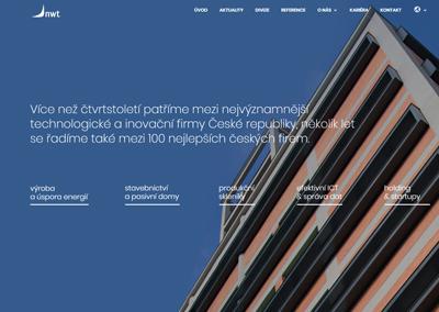 Webové stránky technologické skupiny NWT