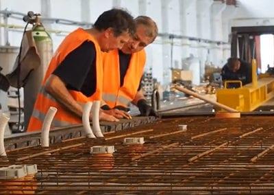 Výroba panelů pro stavbu pasivních domů